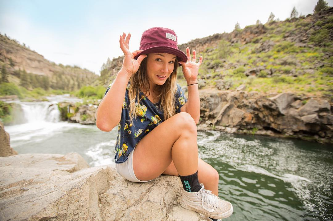 When wearing your Monday's best means cooling off by a river in the Ernie bucket hat.