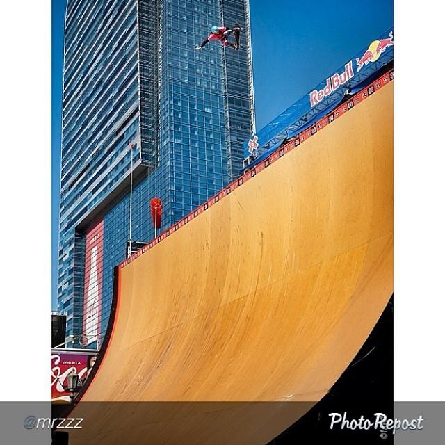 "Huge! by @mrzzz ""#throwbackthursday Lyn-z Pastrana X Games Mega Ramp a few years back. So rad. @lynzskate"" #skateboarding #skate #skatelife #megaramp @xgames"