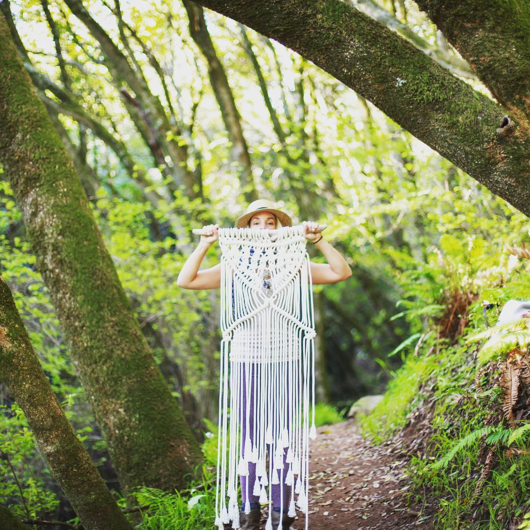 Need some installation inspiration? Check out the fantastic custom work by @lafortune_artisania  Just love this girl! She can make you something beautiful for any space!  #macrame #inspo #instillation #wallhanging