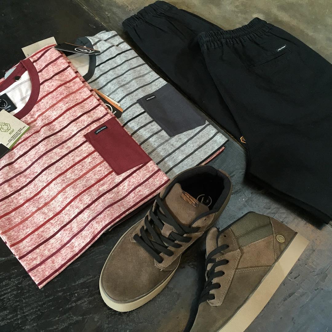 Combo Pocket #VBJ Tee + Twill Jogger Pant negro + Grimm Mid 2 de la última temporada #volcomfootwear #AW16 #invierno2016 #truetothis