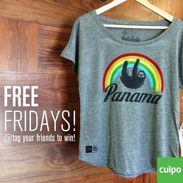 FREE FRIDAY PANAMA TEE!!!! Tag your friends to win. #freefriday #cuipo #panama #saverainforest person with the most tagged friends wins!!!