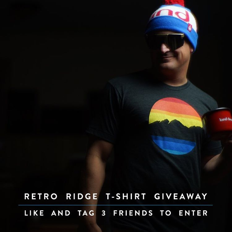 "Retro Ridge T-Shirt Giveaway!  LIKE and TAG 3 FRIENDS to enter.  Now available at www.kinddesign.co - 25% off with ""FRESHNEWSITE"" - code expires at the end of the week.  Good luck!  #kinddesign #retro #vintage #madeinUSA #colorado #coloradical..."