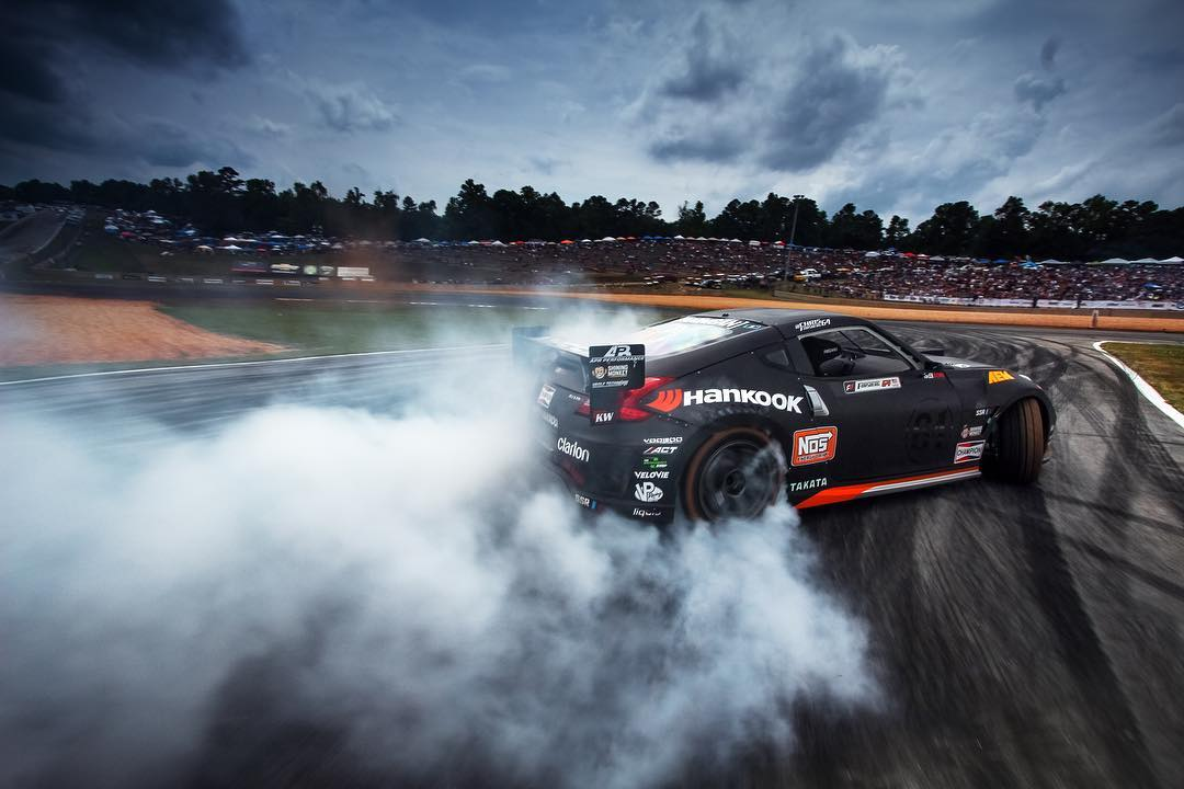Who's ready for @formulad Atlanta this weekend? Here's a snap of our dude @chrisforsberg64 coming out of the horseshoe last year by Mr. @larry_chen_foto. #FDATL #Hoonigan