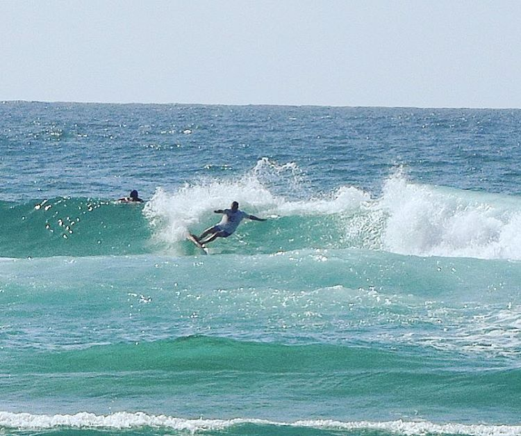 Small fun in the sun 3DFINS founder designer Courtney Potter testing a new Dimple design out at snapper on the weekend. #3dfins #dimpletechnlogy #innovation