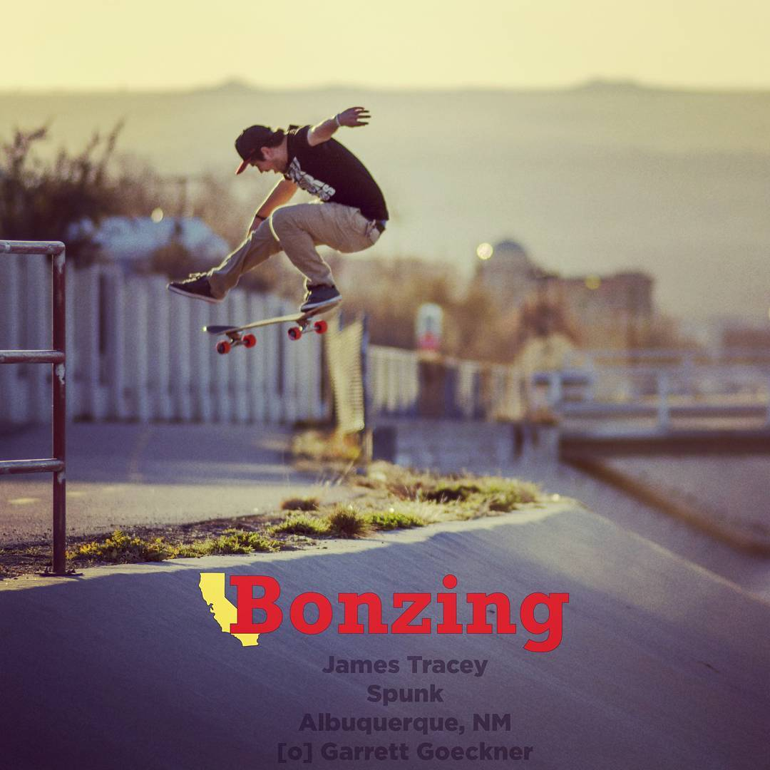 New Wallpaper Wednesday drops tomorrow!  Get last months Wallpaper Wednesday at BonzingSkateboards.com!  #jamestracey #spunk #bonzing #paristrucks #divinewheelco #timeshipracing #skateschoolsantafe