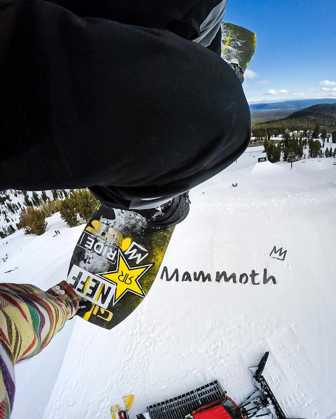 @brandonjdavis goes huge with a backside 540 tail grab over the snowcat at #SuperPark20. GoPro HERO4 | GoPole Chomps #gopro #gopole #gopolechomps #snowboarding @mammothunbound @themayhemprojects
