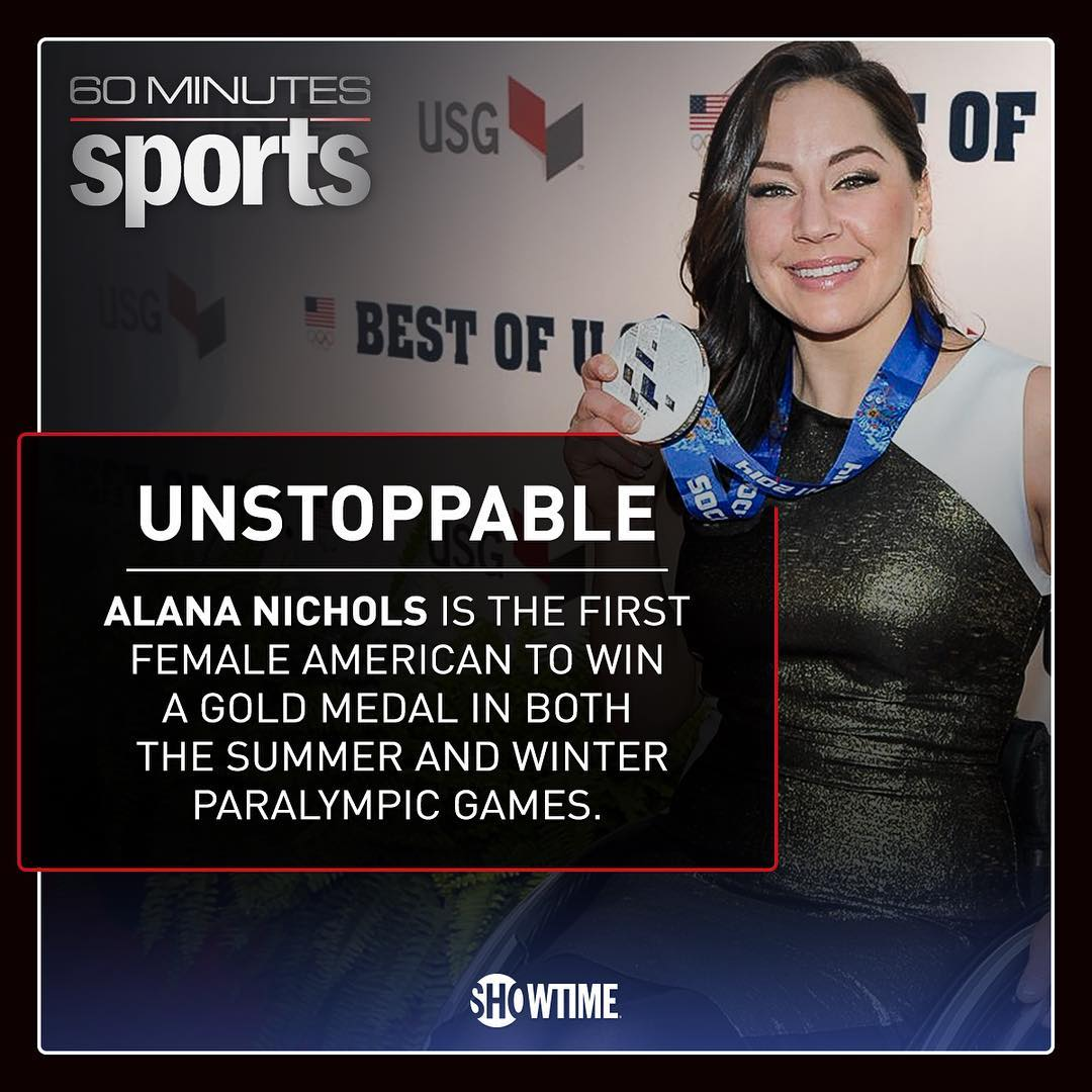 """Tell me I can't do something and I will."" - @alanathejane! Watch her on @60minsports tonight, 9p ET/PT on @showtime"