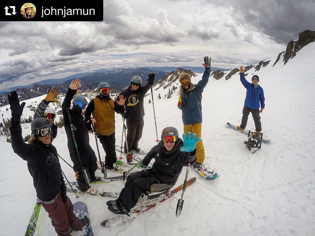 "All-time @squawalpine day with an all-time crew!! #Repost from #LifeJedi extraordinaire,  @johnjamun: ""so rad to see @ezerrenner take his first turns today after his back injury just over a year ago.  Mega honor to shred with all you guys!"" H5:..."