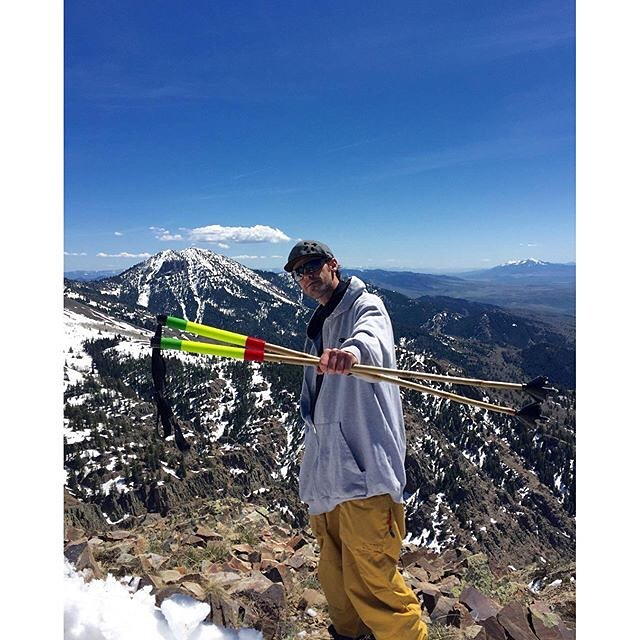 The snow in SE Idaho is disappearing fast, but Bo Ferro ain't done searching for the goods yet! He took his special-edition Reggae-Tana ski wands on a little journey today... #TribeUP!  PandaPoles.com/collections/special-edition  Photo: @leeswassing...