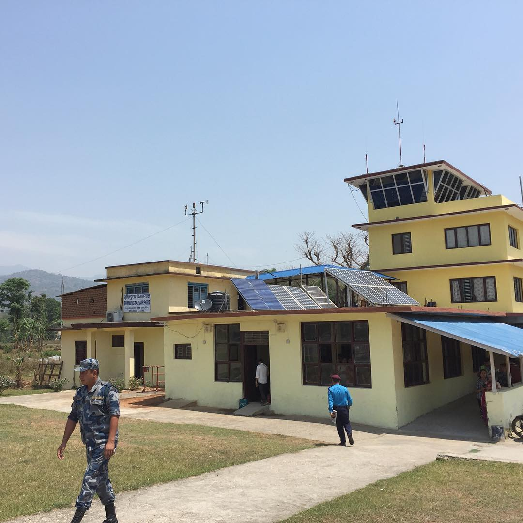 Tumlingtar airport. First stop of a three day journey to one of our collectives in the Far East of Nepal. #nepal #estwst #connectglobally