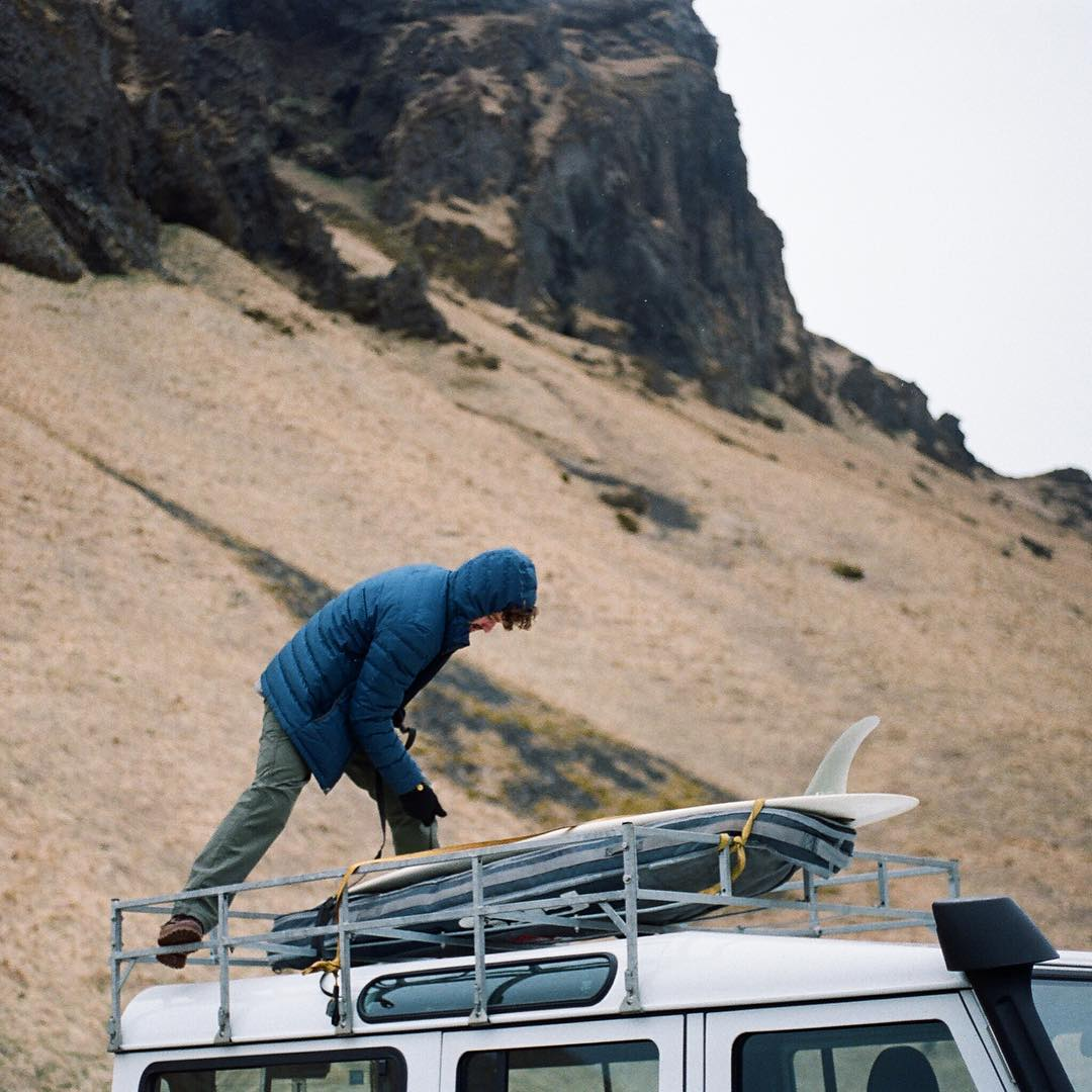 Film scans from Iceland- @nolecossart on board-loading duty some icy morning outside the hotel