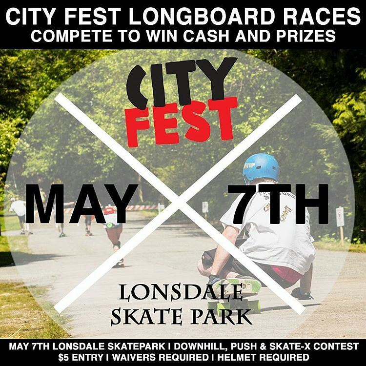 Stoked to help out again this year at @northvancouvercityfest If you're in the lower mainland in #beautifulbritishcolumbia stop by and check it out!  #regram -  Hi Friends,  The 4rd Annual Longboard Race at Cityfest is going to be the best. Adding to...