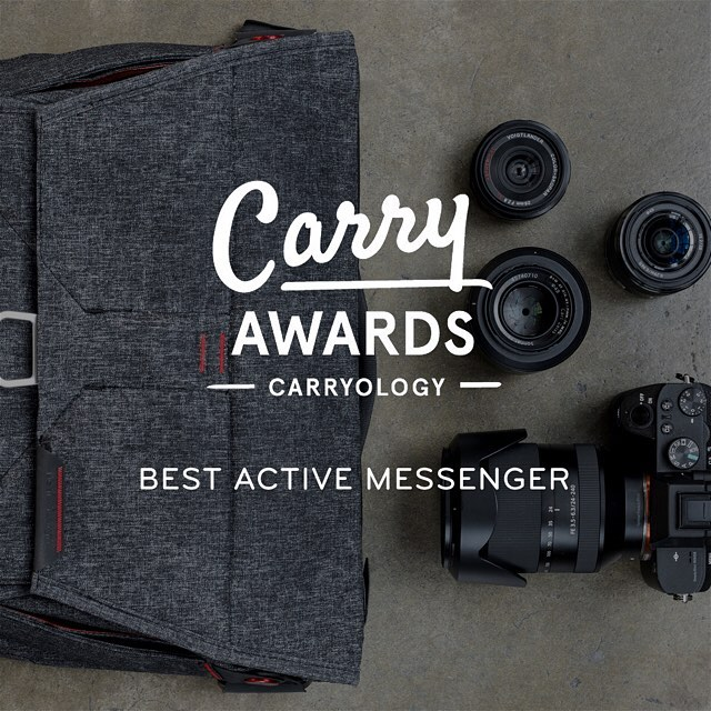 How's this for a Wednesday? Same day we announce the Everyday Messenger 13, we receive the highest award @carryology bestows - Best Active Messenger in their annual Carry Awards! #findyourpeak #carryawards