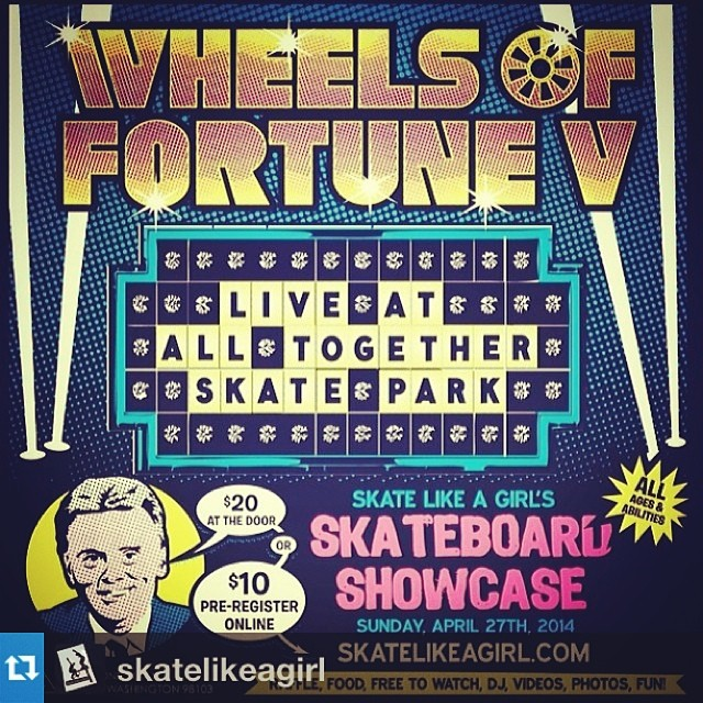 We are proud to be a sponsor of Wheel Of Fortune 5, Female Skateboarding Showcase! See you April 25 at the All Together Skatepark in Seattle, WA @skatelikeagirl #xshelmets #prize #skatelikeagirl #fun #skate