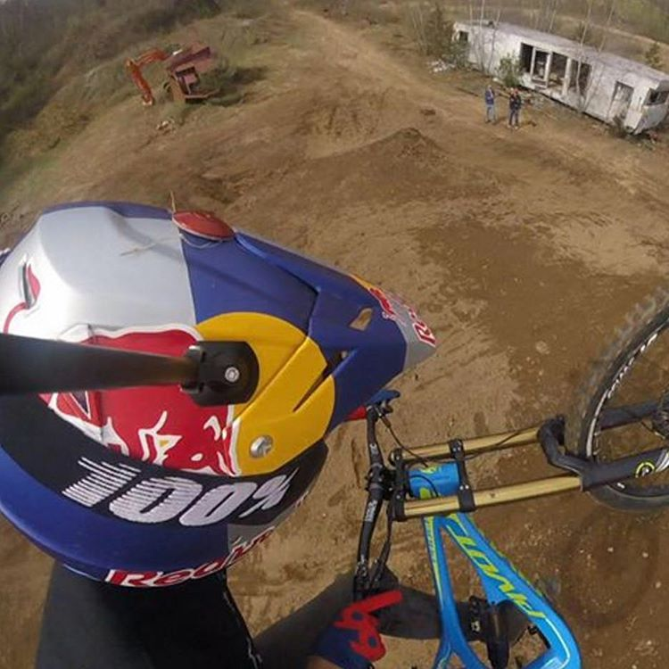 #ThrowBackThursday cool #BikeSelfie of @aaronchase with his birds eye #GoPro view of the world #SixSixOne #661Protection #Redbull