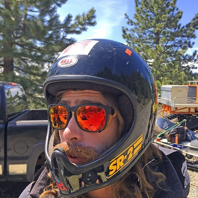 Safety first! @travelindan ready for the day out in the backcountry.
