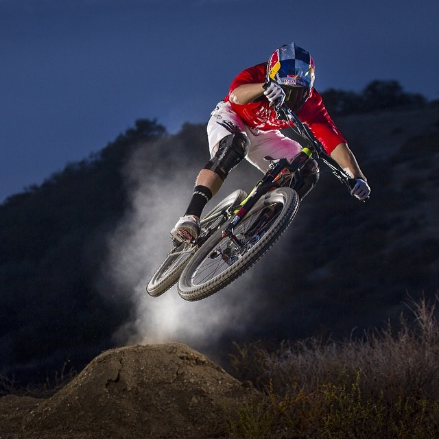@CurtisKeene ignites the trail in the middle of the night. Click the link in our profile for the first episode of #OnTrack.