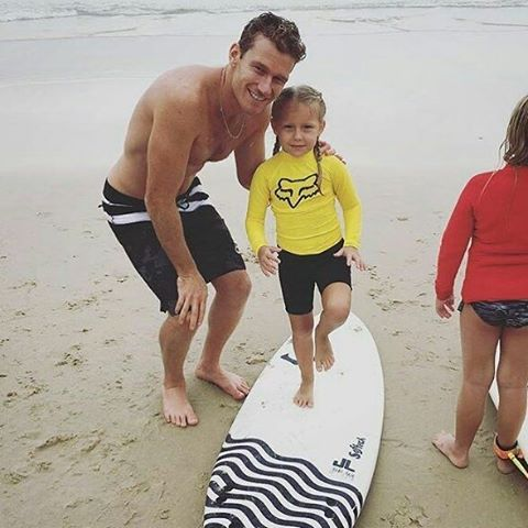 @foxsurf:  We love seeing the next generation get out into the surf. @bededurbo taking a break from the #Foxgromshootout to push his daughter Willow Durbidge into a few waves. #Prouddad #northstradbrokeisland  #Foxsurf  #Liveforit  #Surfergirl