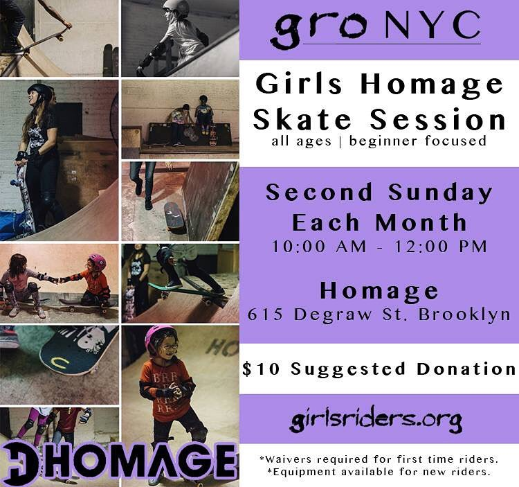 Celebrate Mother's Day this Sunday by teaching your mom to skate @homage_brooklyn