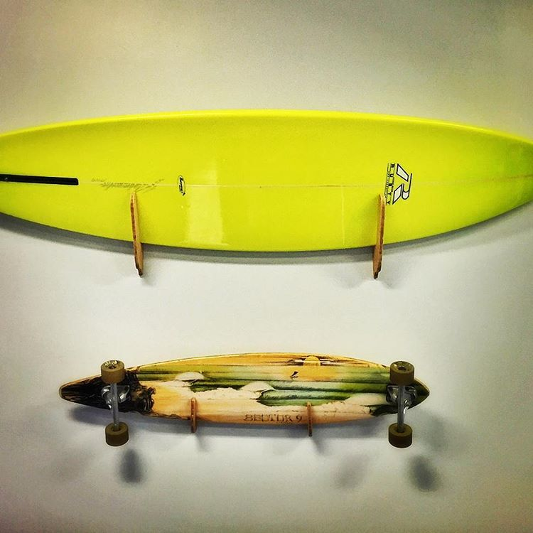 Happy customers. Sick display by Rob M. What could you do with your home..? #happycustomers #tbt #grassracks #maholla #bamboo #home #homedecor #surf #surfrack #longboard #longboardrack #surfboard #surfer #waterman #skate #skateboard #skaterack...