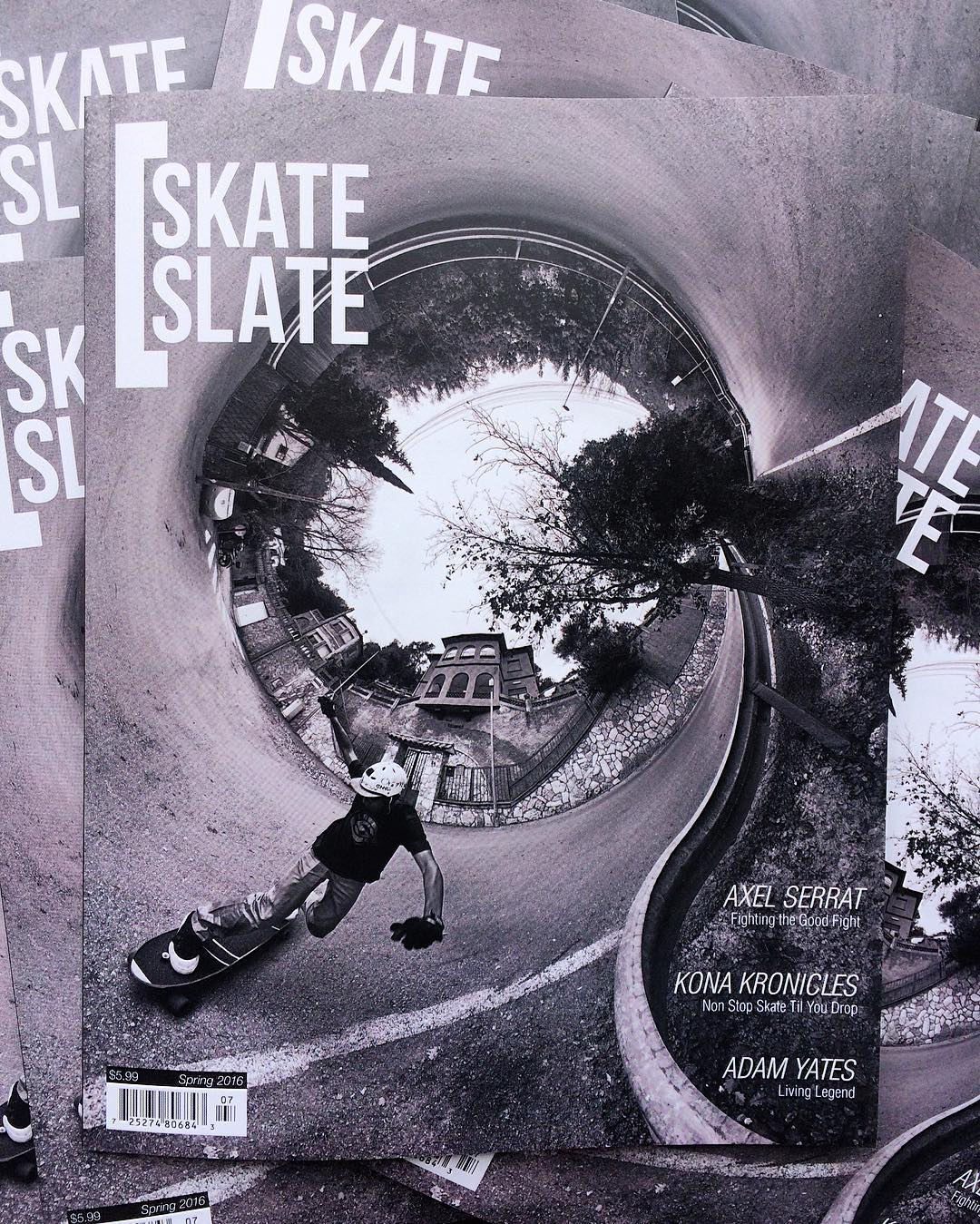 We couldn't be more stoked to see Axel Serrat (@agboton) on the cover of the new @skateslate magazine. His positivity and pure stoke on life and skateboarding is contagious. It's great to see him grace the pages of this issue.  Pick up a copy and give...