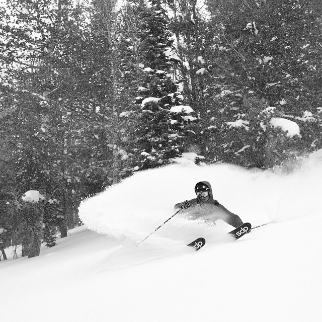 "The folks from @earlyups took the Lotus 138 Spoon through its paces this winter, the verdict... ""It may very well be the best #powder #ski in the world."" @jj_0909 hard at work surfing pow, photo by @patricknelson_. #dpsskis #SpoonTechnology"