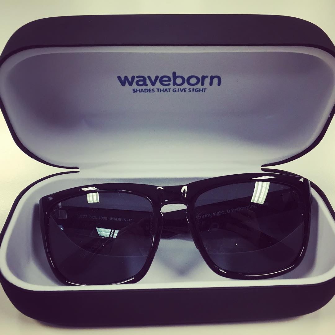 The #weekend #looks better through a pair of #polarized #bold #black #beacon #waveborn #givesight