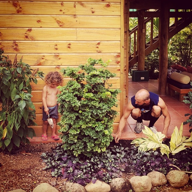 The Bodhi Surf Headquarters landscaping team