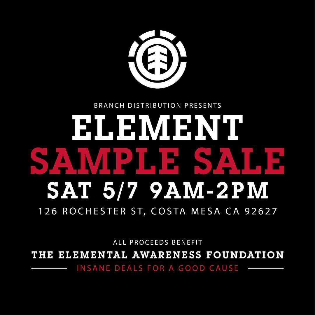 TOMORROW, from 9AM-2PM we will be holding a sample sale in Costa Mesa, CA. Come through for some insane deals, all proceeds benefit our non-profit @elementalawareness!