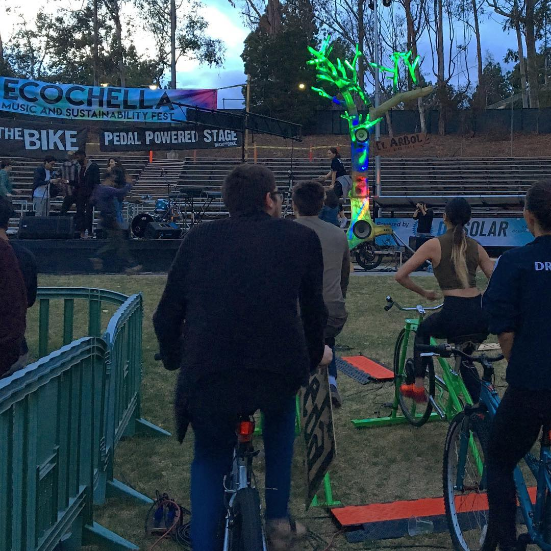 Had fun today at #ucla @ucla and their @ecochella event! Biked enough energy to run the concert for 7 hours! Had over 30 people pledge to give up single use plastics for 14 days! Thank you @plasticpdise and @helina___