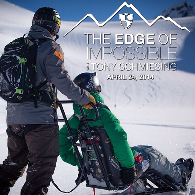 "On April 24, 2014 ""The Edge of Impossible with Tony Schmiesing"" will be released to the world! Get ready for the most uplifting video you've seen from the @hi5sfoundation with an amazing #HighFivesAthlete 