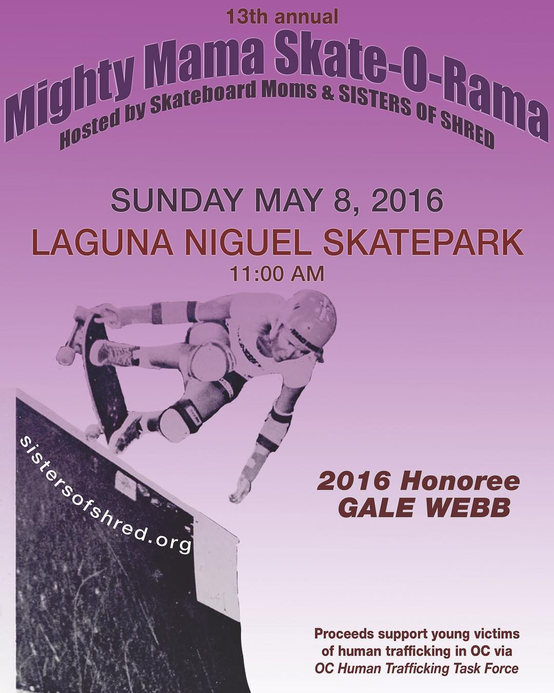 California! Our absolute favorite group of +50 years old skate moms, The Skateboard Moms & Sister of Shred @skatemoms_sistersofshred are hosting tomorrow Sunday 8 the 13TH ANNUAL MIGHTY MAMA SKATE O RAMA at Laguna Niguel skatepark in Orange Co.,...
