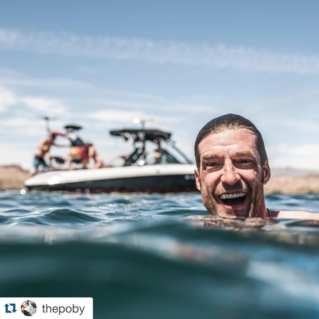 "#Repost from #LakeHavasu through the lens of photon ninja & dear friend, @thepoby: ・・・ ""It's is a happy day what ever you celebrate - there is no happier life expression than this one. #boating #waterski #wakeboard #hydrofoil #wakesurf #surf..."