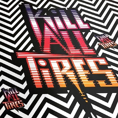 FREE STICKER: the newest addition to the Hoonigan by @felipepantone collection is this Kill All Tires sticker. Get it for FREE with any purchase from HHIC @kblock43's category on #hooniganDOTcom.