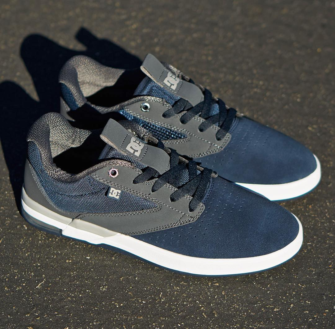 IMPACT-A airbag for impact protection, SUPER SUEDE for durability. The @joshkalis Wolf is available in Navy/Grey at skateshops everywhere and DCShoes.com. #JoshKalis #DCShoes