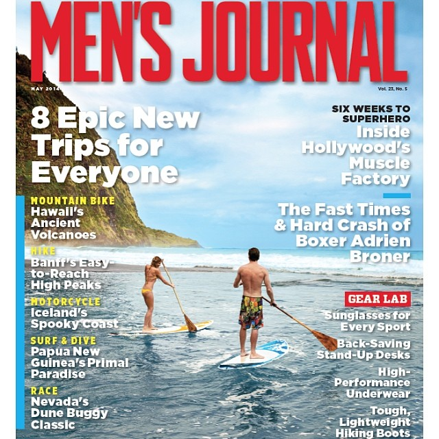 Aloha Friday! Thanks for the cover shot @mensjournal!! We had a blast! @swellliving #sup #paddlehi #imaginepaddlesurf #kalamaperformance #irideirecycle #artofboard. A special thanks to @adventuresportsmaui for sending these boards fast via...