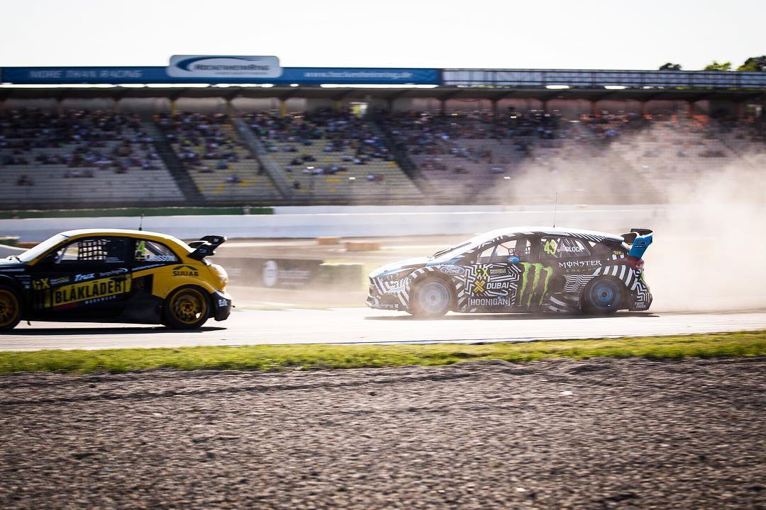 @kblock43 getting his first @fiaworldrx podium finish in the Focus RS RX. Wrapping up the day with third place!