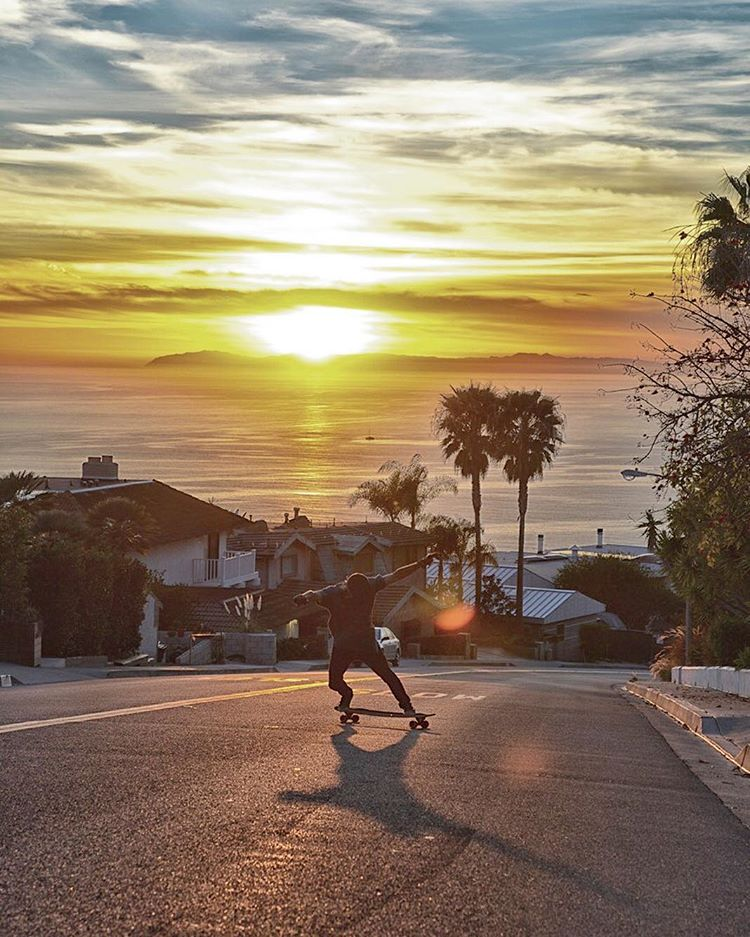 All day from sunrise to sunset, team rider @laurent_perigault lives the skate life. We hope everyone is enjoying the weekend and getting some runs. Laguna ||