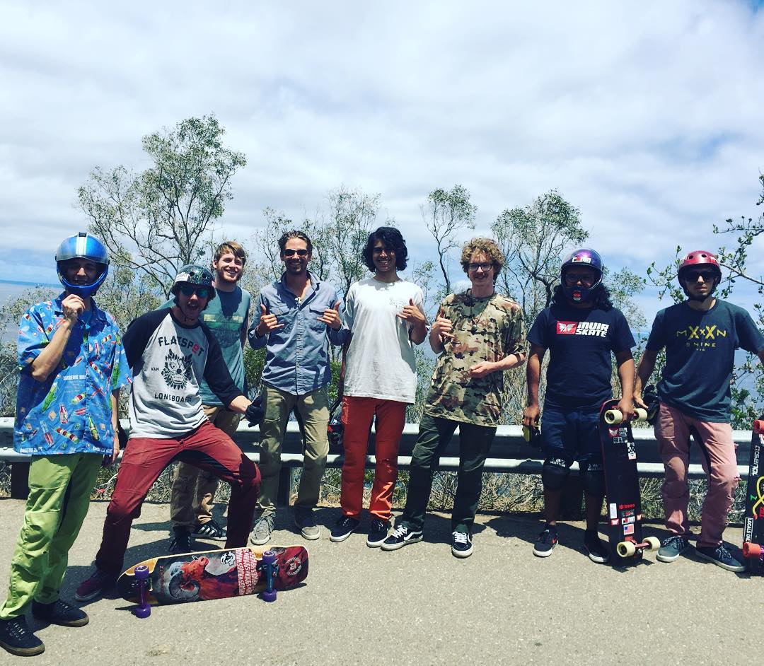 No leathers for free ride day means lots of #pushcultureapparel #crashpants come out. This last day of the #catalinaclassic is SO FUN!