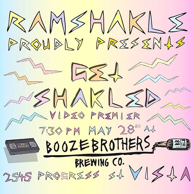This month, may 28th we'll be having the #GETSHAKLED video premiere at @boozebros in vista, CA so get you butts down and party