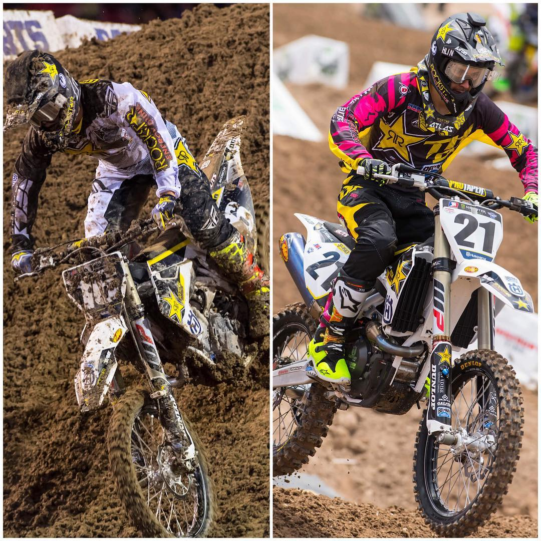 @zacho_16 and @elhombre_21 close out the 2016 SX season with a pair of podiums! #LVSX @dragon_motorsports #dragon_motorsports #dragonNFX2 #weareframeless