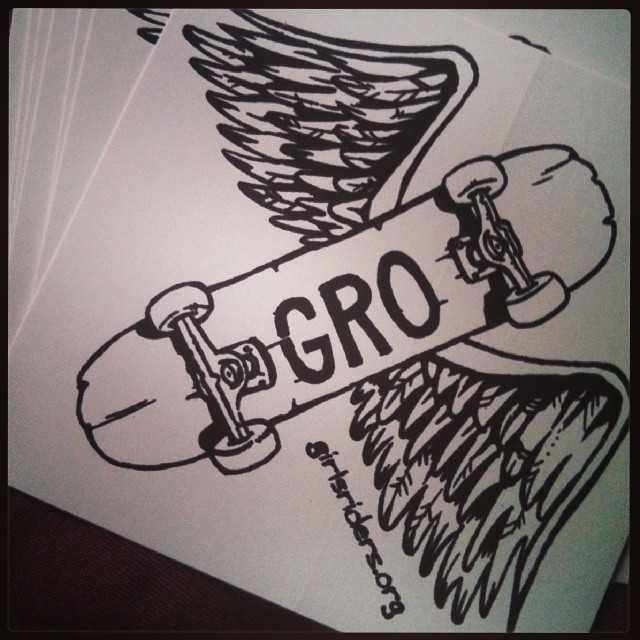 New GRO stickers in stock.