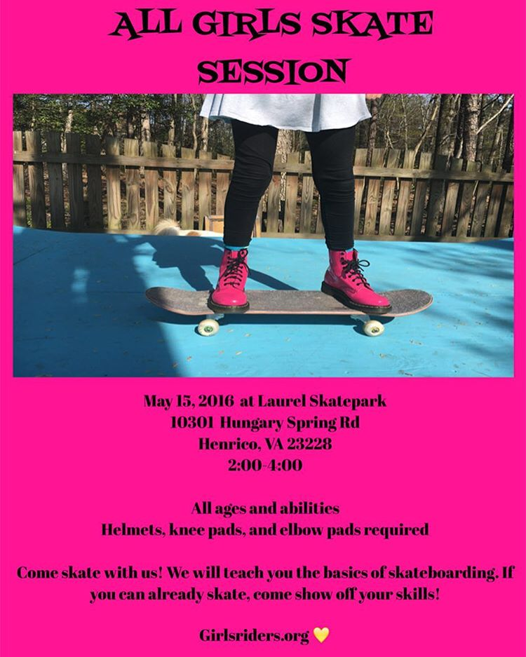 Richmond session this Sunday!!! #ridetrue #ladiesofshred #killinitsoftly  #likeagirl #likeaboss #skatergirl #girlsonboard #gromgirl #gromlife #grom #girlswhoshred #comeskatewithus #youcanshredwithus #thankyouskateboarding #skateboardingisfun