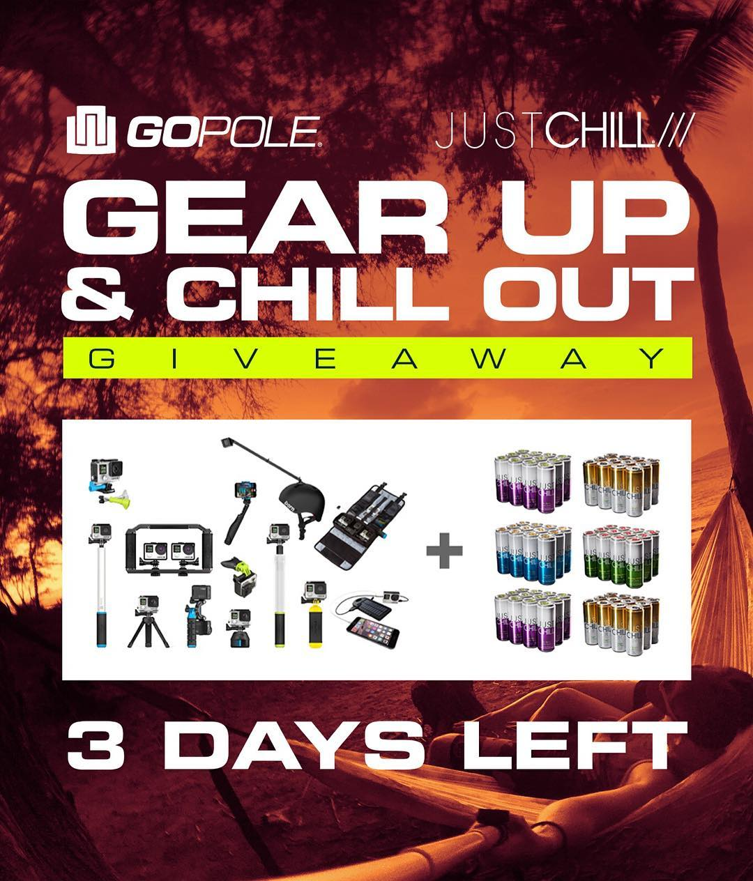 3 days left to Gear Up & Chill Out! Enter now by clicking the link in our bio. @justchill #gopole #thepowerofcalm #gearupchillout