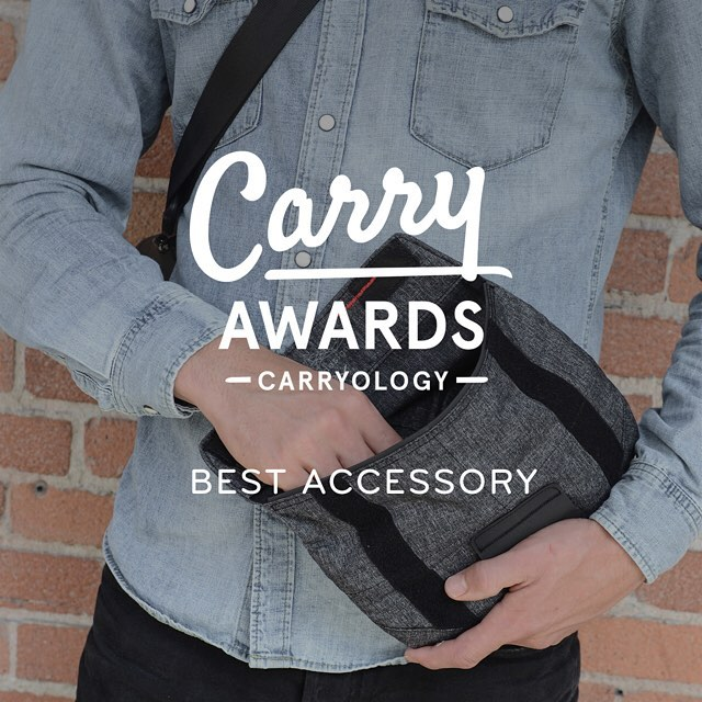 It's a two-fer! @carryology continues to flatter as our Field Pouch wins Best Accessory in their fourth annual Carry Awards. Thanks, guys! #findyourpeak #carryawards