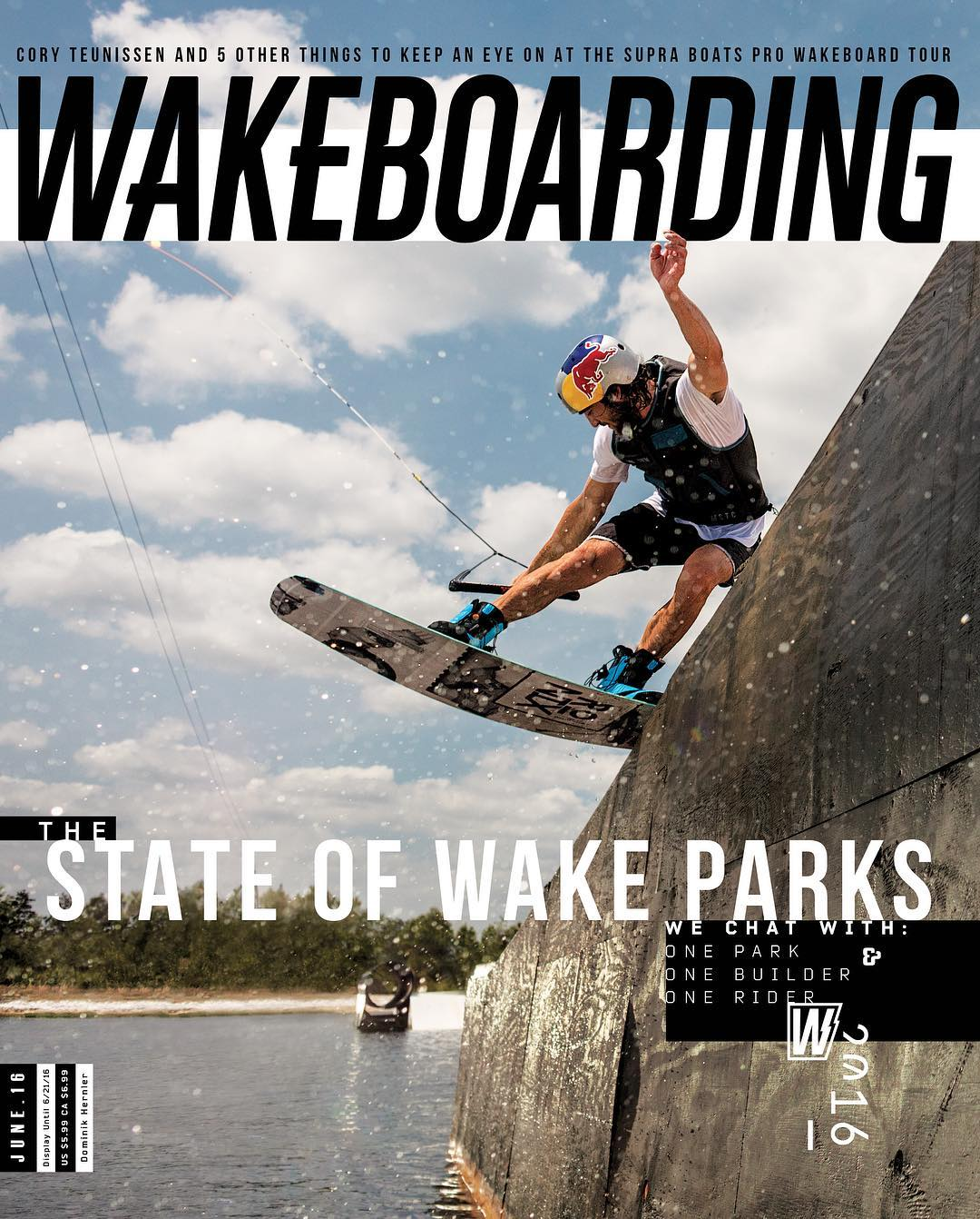 @domhernler holding down the cover of the new @wakeboardingmag, shot by non other than @thegoldenbear. Congrats Dommy! #ronix2016 #oneloveinwake #takeflight #fortifiedwithlakevibes #kinetikproject #aquaticresearchanddevelopmentlab