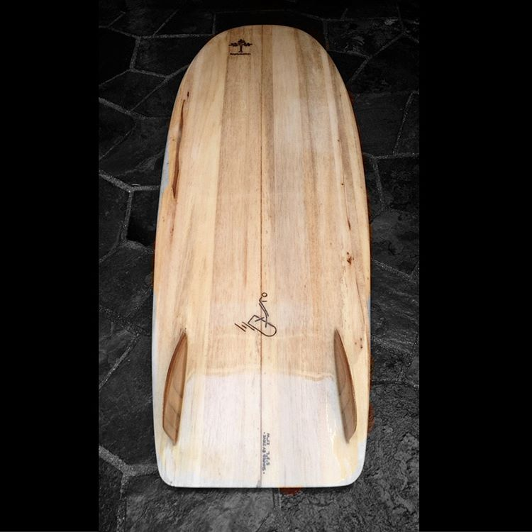 Wave Tribe bro Steve's Mini Simmons Hollow Balsa Board #minisimmons #surf #hollow #balsa #wavetribe #eco #surf #surferswhocare #stoked #DIY