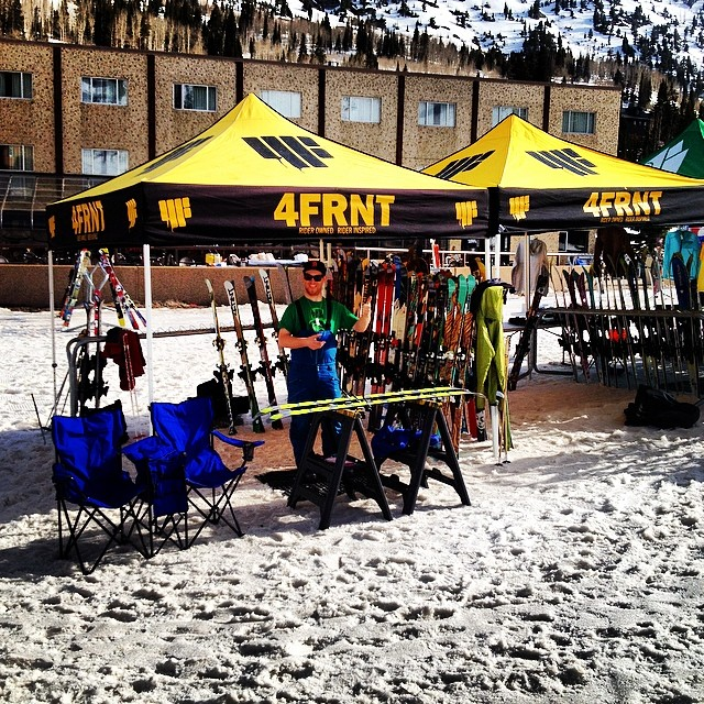 Great day for a demo at @altaskiarea  Come on up to try all the new skis.