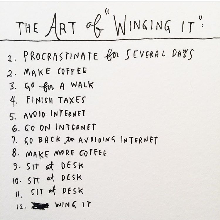 "The ""creative process"" as experienced by @wendymac #AllSwell"