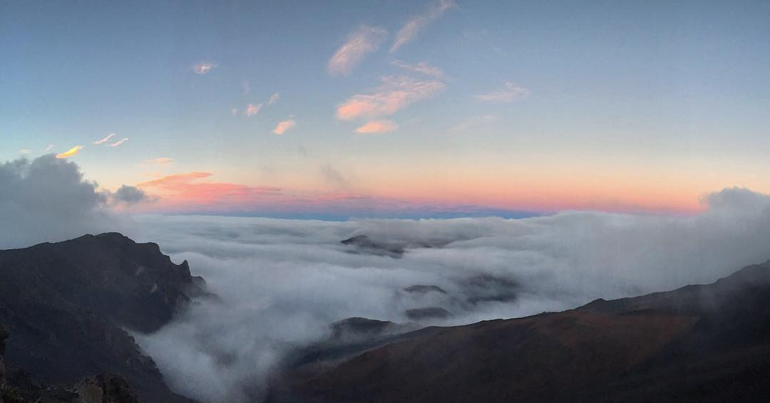 Sunset @ 10,000 Feet, the cloud over the summit decided to clear just in time
